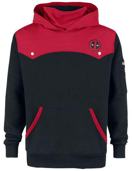 Deadpool Logo Sweat à capuche noir/rouge