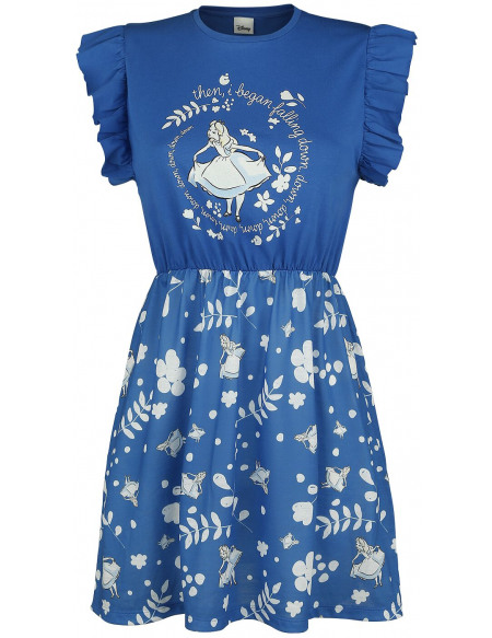 Alice Au Pays Des Merveilles Falling Down Robe bleu