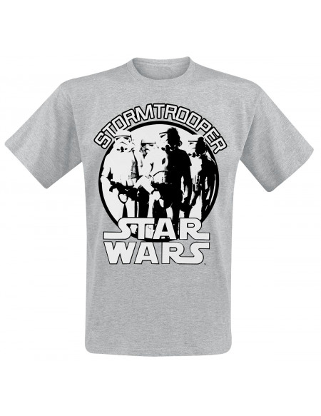 Star Wars Stormtrooper T-shirt gris clair chiné