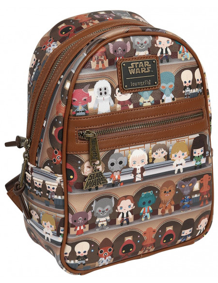 Star Wars Loungefly - Chibi Sac à Dos marron