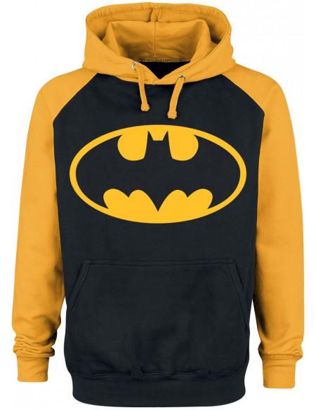 Batman Logo Sweat à capuche noir/jaune