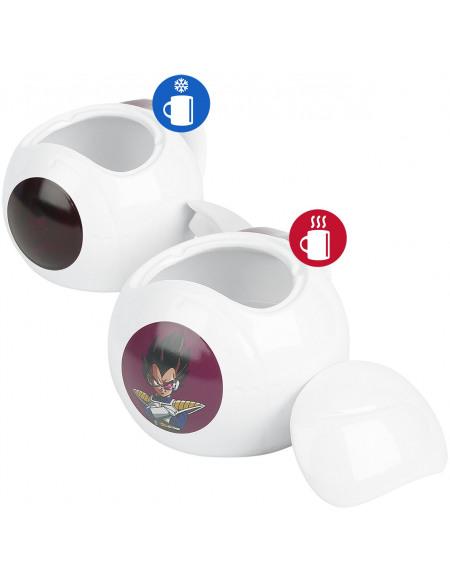 Dragon Ball Capsule Vegeta - Mug Thermo-réactif Mug blanc