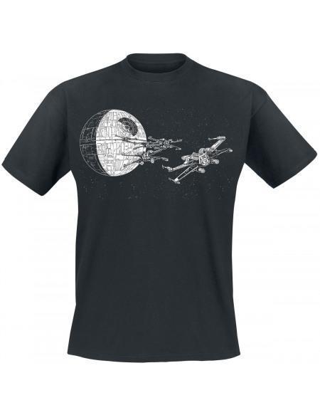 Star Wars Épisode 4 - Un Nouvel Espoir - Attaque De L'Étoile Noire T-shirt noir