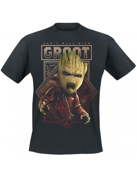 Les Gardiens De La Galaxie Les Gardiens de la Galaxie 2 - Don't Mess With Groot T-shirt noir
