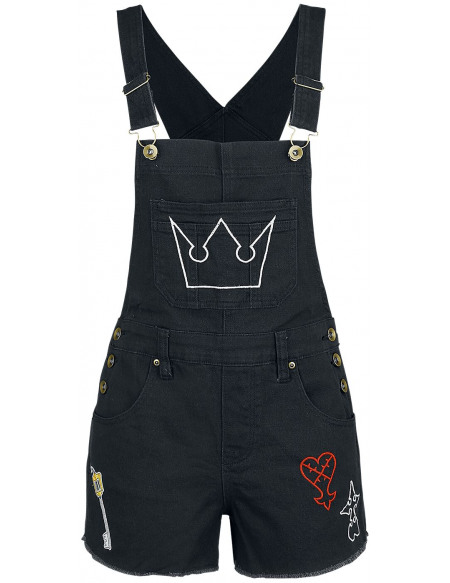 Kingdom Hearts Symboles Short Femme noir