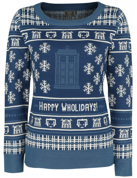 Doctor Who Tardis Sweat-shirt Femme multicolore
