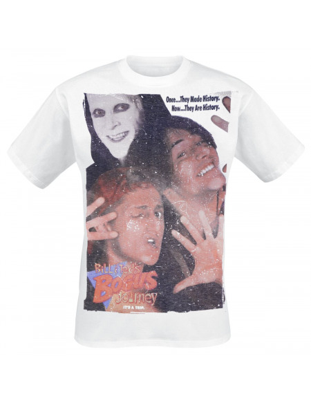 Bill & Ted's Excellent Adventure Poster T-shirt blanc