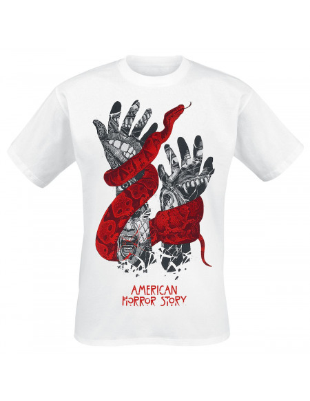 American Horror Story Mains T-shirt blanc