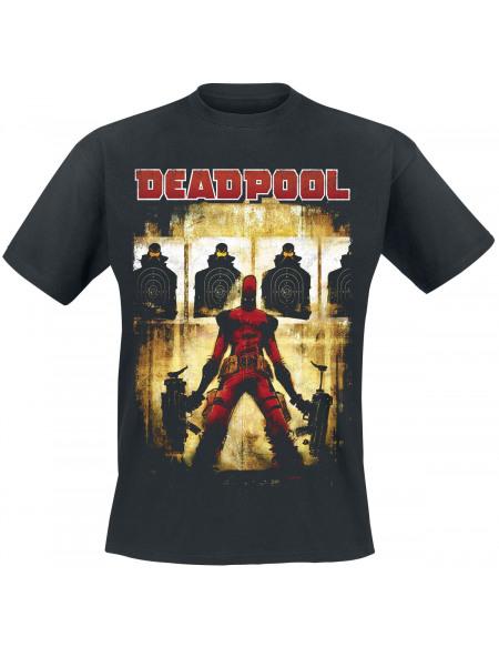 Deadpool Target Practice T-shirt noir
