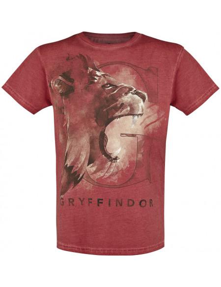 Harry Potter Gryffondor - Lion T-shirt rouge
