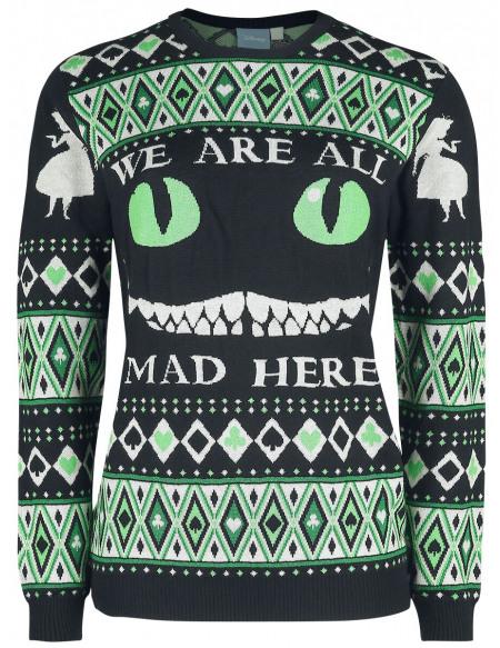 Alice Au Pays Des Merveilles Winter Madness Pull tricoté multicolore