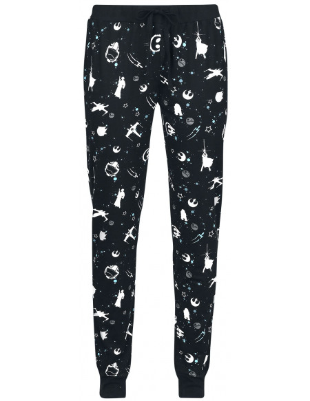 Star Wars Light Side Space Bas de pyjama noir