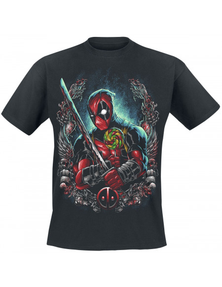 Deadpool Sucette T-shirt noir