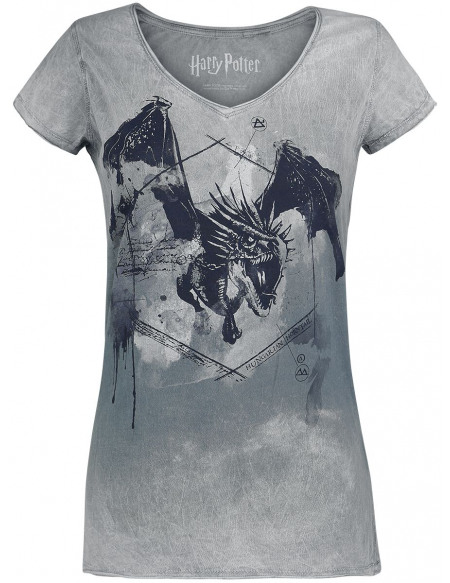 Harry Potter Hungarian Horntail T-shirt Femme gris clair