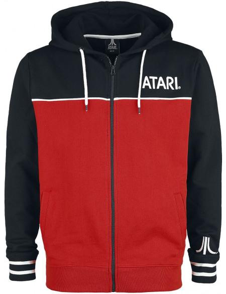 Atari Logo Sweat Zippé à Capuche noir/rouge