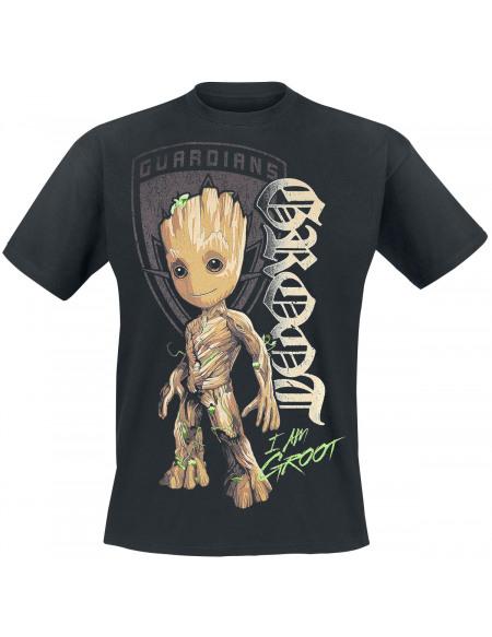 Les Gardiens De La Galaxie Les Gardiens de la Galaxie 2 - Groot Shield T-shirt noir