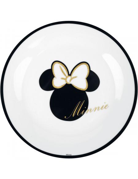 Mickey & Minnie Mouse Minnie Dorée Assiette multicolore