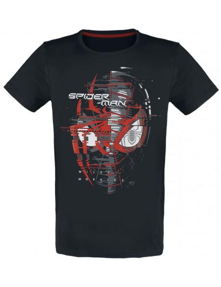 Spider-Man Miles Morales - Spider Head T-shirt noir