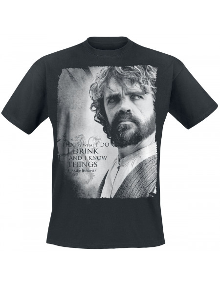 Game Of Thrones Tyrion Lannister - I Drink And I Know Things T-shirt noir