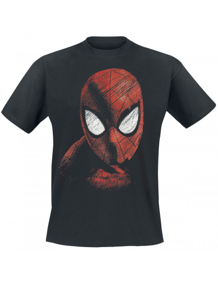 Spider-Man Masque T-shirt noir