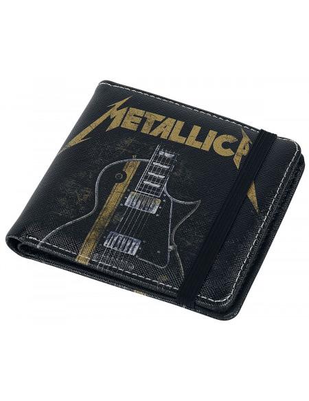 Metallica Guitar Portefeuille noir