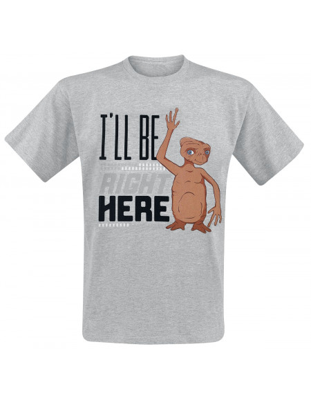 E.T. - the Extra-Terrestrial I'll Be Right Here T-shirt gris chiné