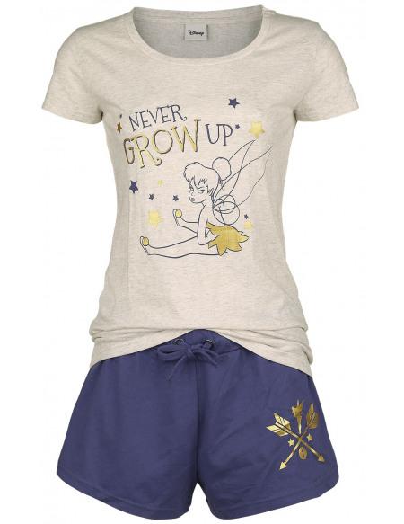 Peter Pan Never Grow Up Pyjama crème/lilas