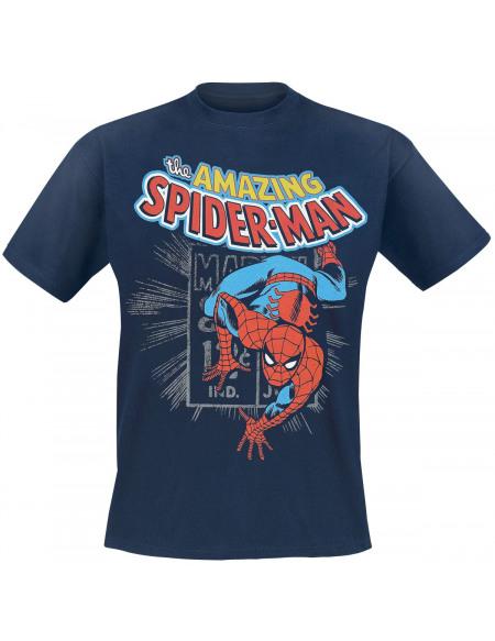 Spider-Man Amazing Spider-Man T-shirt bleu foncé