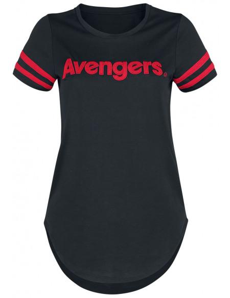 Avengers Endgame - Logo T-shirt Femme noir/rouge