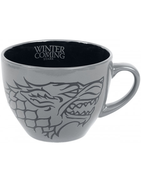 Game Of Thrones Maison Stark - Tasse Mug gris/noir