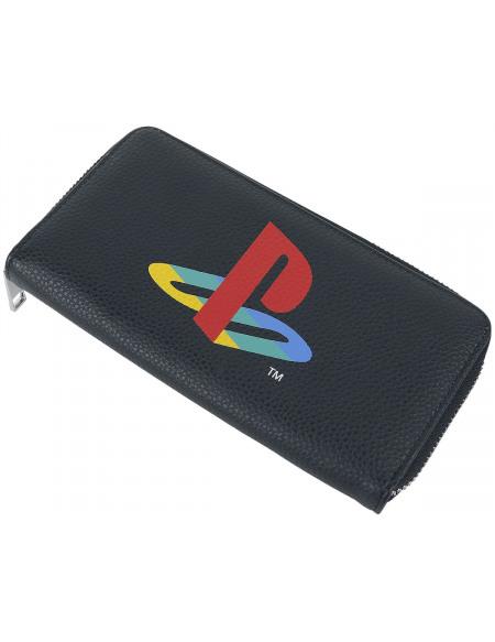 Playstation Retro Logo Portefeuille noir