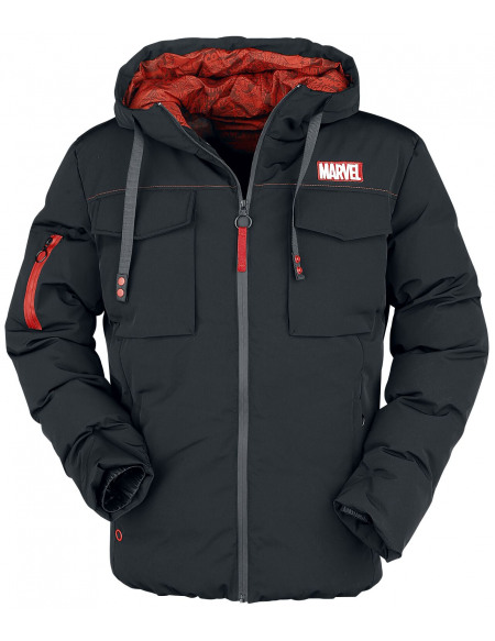 Marvel Logo Marvel Veste noir