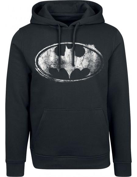 Batman Logo Abîmé Sweat à capuche noir