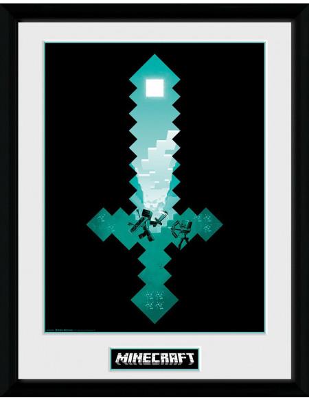 Minecraft Diamond Sword Photo encadrée Standard