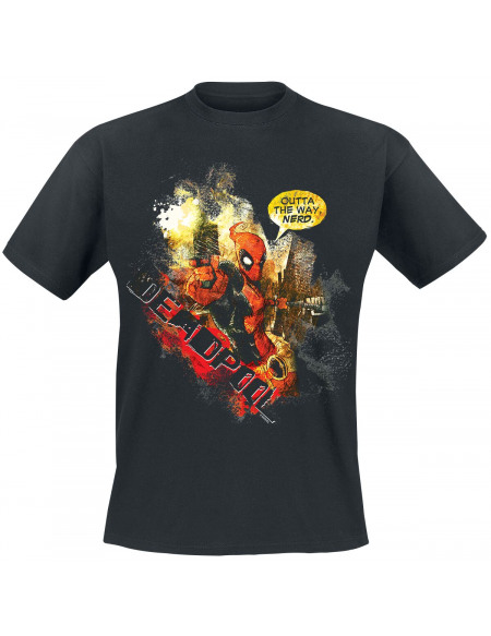 Deadpool Outta The Way T-shirt noir