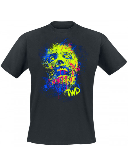 The Walking Dead Néon T-shirt noir