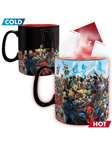 Mug Heat Change ABYstyle Héros Marvel 460 ml