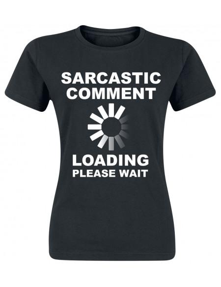Sarcastic Comment T-shirt Femme noir