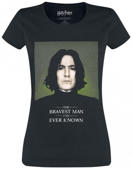 Harry Potter Snape The Bravest Man T-shirt Femme noir