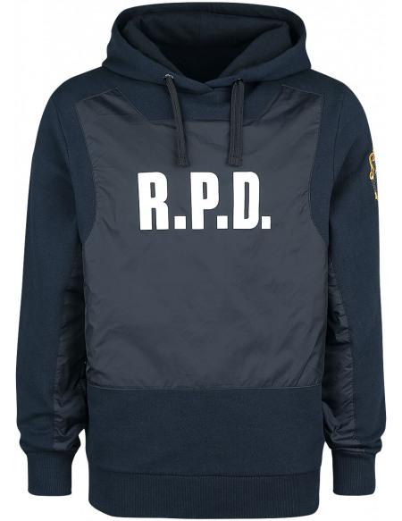 Resident Evil Racoon Police Department Sweat à capuche bleu/noir