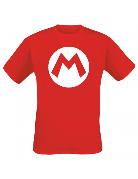 Super Mario M T-shirt rouge
