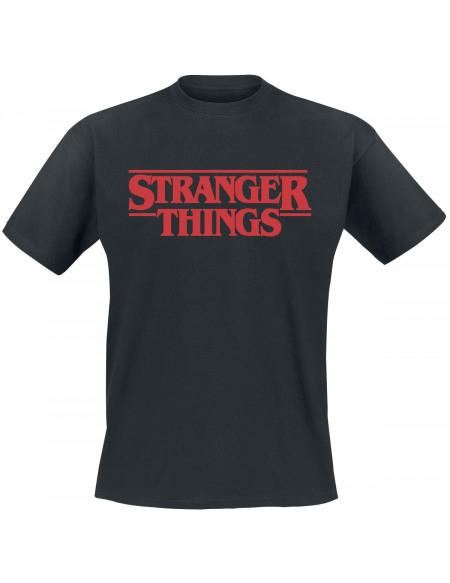 Stranger Things Logo Classique T-shirt noir