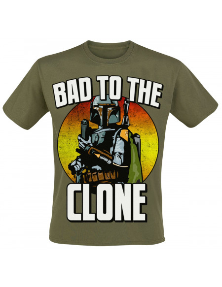 Star Wars Boba Fett - Bad To The Clone T-shirt olive
