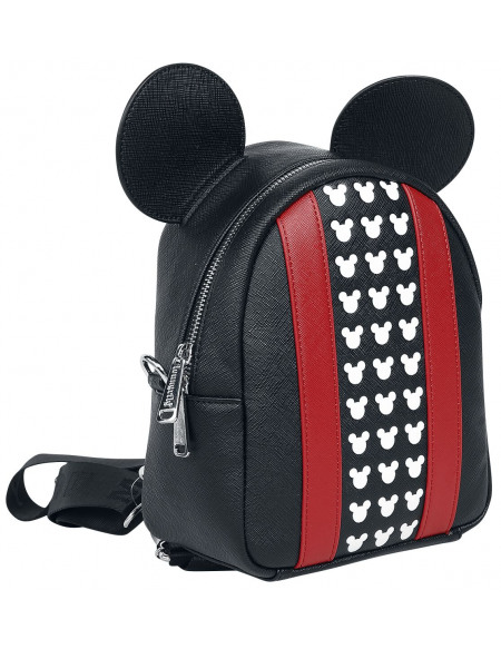 Mickey & Minnie Mouse Loungefly - Micky Maus Sac à Dos noir/rouge