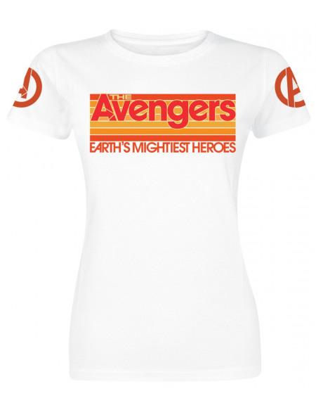 Avengers Logo T-shirt Femme blanc