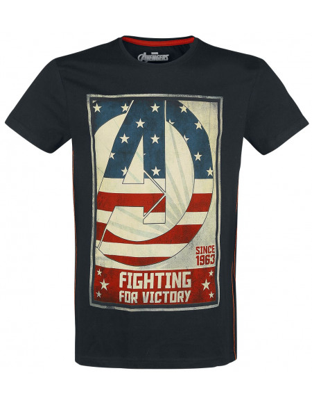 Avengers For Victory T-shirt noir