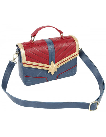 Captain Marvel Loungefly - Logo Sac à Main rouge/bleu