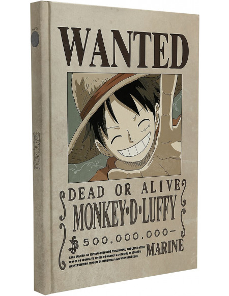 One Piece Wanted Luffy Cahier Standard