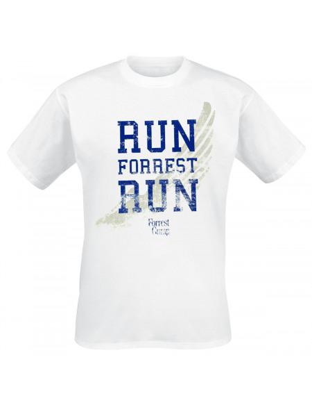 Forrest Gump Run Forrest Run T-shirt blanc