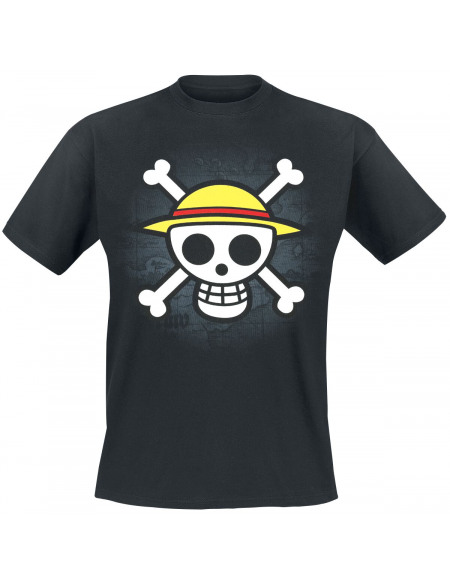 One Piece Drapeau Pirate T-shirt noir